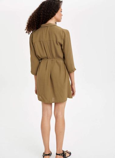 DeFacto Mini Anvelop Elbise Haki